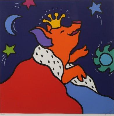 Shunyam - My favorite star - 83 cm x 83 cm - Zeefdruk op papier - ingelijst