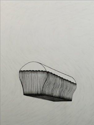 Jos van der Sommen - zonder titel - 100,5 x 80,5 cm - Gemengde techniek (potlood en krijt) op papier - ingelijst