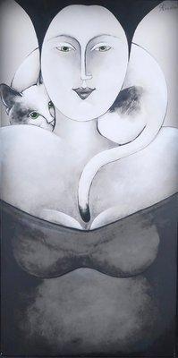 Carla Raadsveld - Happy - 120,5 x 60 - Handbeschilderd giclee op doek