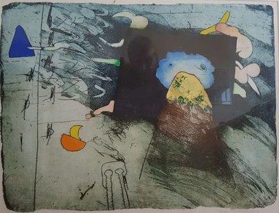 Michel van Overbeeke - Mountain V - 85 x 70 cm - Ets op papier - ingelijst
