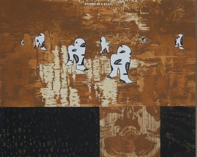 Gijs van Noort - Dreams on a scan - 70 x 79,5 cm - Zeefdruk op papier