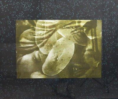 Titus Nolte - Zonder titel I - 73 x 83 cm - Zeefdruk op papier - in zwarte houten lijst