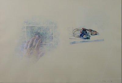 Walter Nobbe - De Zomer - 72,5 x 92,5 cm - Aquarel op papier - in houten lijst