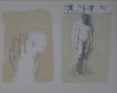 Walter Nobbe - Dubbelportret - 50 x 66 cm - Litho op papier