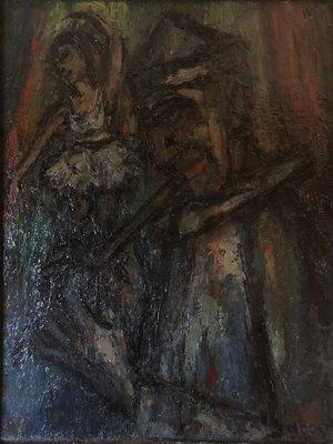 Saskia de Boer - Ballerina - 40 x 50 cm - Olieverf op doek - ingelijst