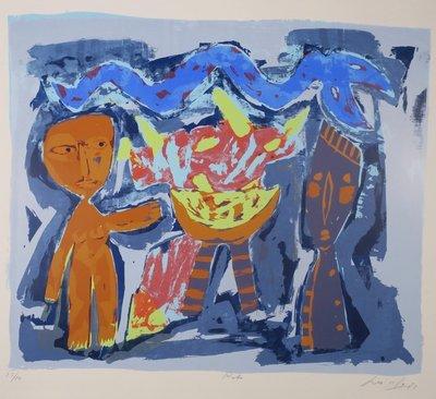 John Lie a Fo - Rite - Zeefdruk op papier - 55,5 x 73 cm