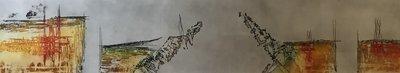 Olivier Beijn - Haven I - 143 x 56 cm - ets op papier - luxe ingelijst
