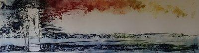 Olivier Beijn - Park II - 105 x 56 cm - ets op papier - luxe ingelijst