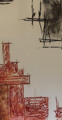 Olivier Beijn - Industrie II - 62 x 90 cm - ets op papier - luxe ingelijst