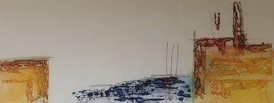 Olivier Beijn - Industrie IV - 85 x 55 cm - ets op papier - luxe ingelijst