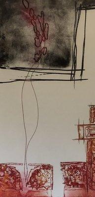 Olivier Beijn - Haven - 62 x 90 cm - ets op papier - luxe ingelijst