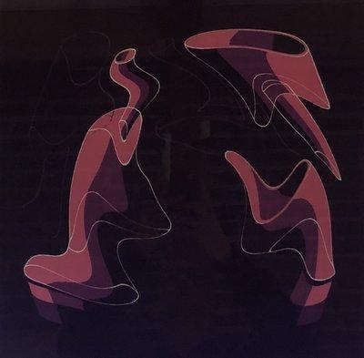 Rob Scholte - Kauwgom Flessen - 80 x 86 cm - Zeefdruk op papier - luxe ingelijst