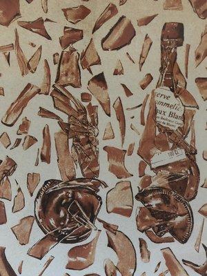 Rob Scholte - Gebroken Flessen - 80 x 86 cm - Zeefdruk op papier - luxe ingelijst