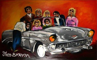 Theo Broeren - Grease - 99,5 x 160,5 cm - acrylverf op doek