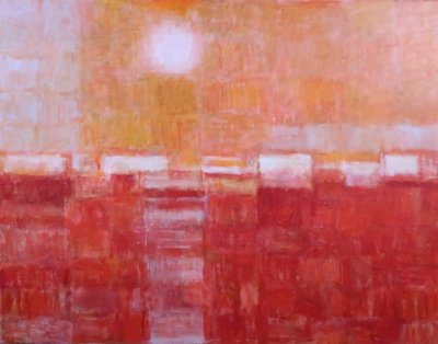 Joep de Bekker - Rood - 75,5 x 95,5 cm - olieverf op doek