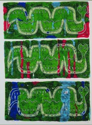 Ans van Dijk - Uruapan -  65 x 51 cm - zeefdruk op papier
