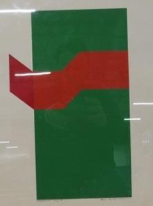 Jaap Hoffman - Serie 8d - 51 x 66 cm - Zeefdruk op papier - in aluminium lijst