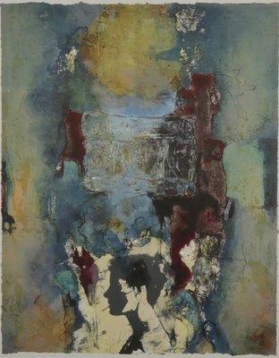 Hans van Horck - zonder titel III - 119,5 x 99,5 cm - Litho op papier - ingelijst