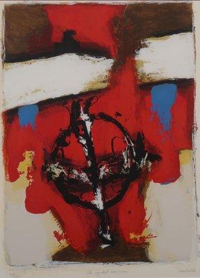 Hans van Horck - The symbol remains - 80,5 x 65,5 cm - Zeefdruk op papier - in aluminium lijst