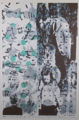 Eugene Jongerius - Trace contour - 132 x 96 cm - Zeefdruk op polyester - in houten lijst