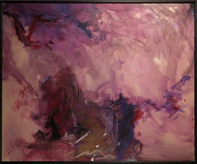 Catherine Megens (Saire) - zonder titel - 103,5 x 123,5 cm - acryl, olieverf en krijt op papier, op paneel - in baklijst