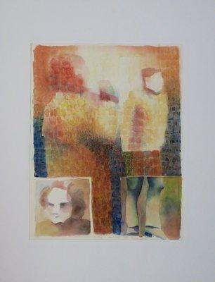 Henri Reiling - Global Village - 90 x 70 cm - Aquarel op papier