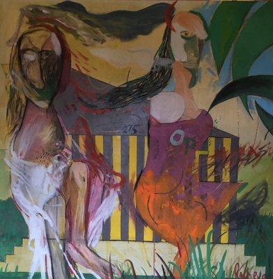 Rumen Rachev - Morning - 101 x 101 cm - acrylverf op doek