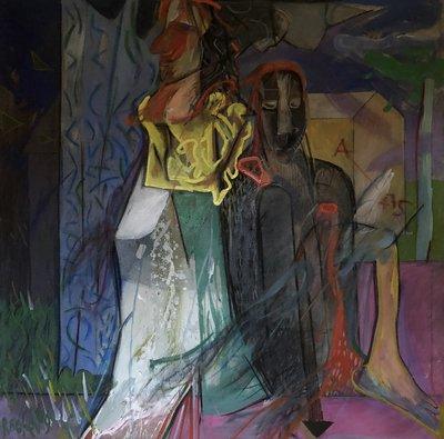 Rumen Rachev - Abama - 101 x 101 cm - acrylverf op doek