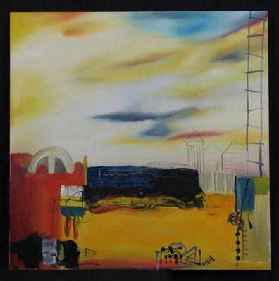 Han Teng - zonder titel I - 80 x 80 cm - Acryl op doek - op spieraam met ophangsysteem