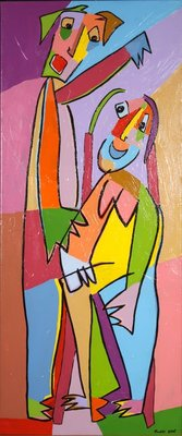 Twan de Vos - zonder titel 2 - 120 x 50 cm - Acryl op doek