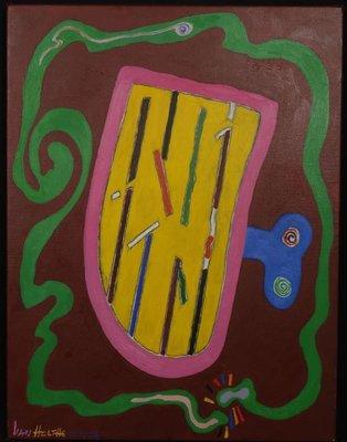 Jan van Holthe - Eine kleine Nachtmusik - 65 x 49,5 cm - olieverf op doek