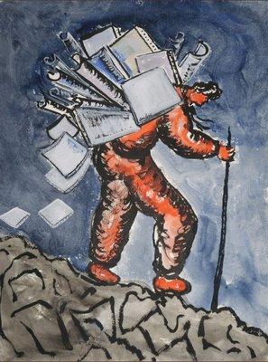 Horacio Cordero - ZT III - 66 x 50,5 cm - Gouache op geschept papier