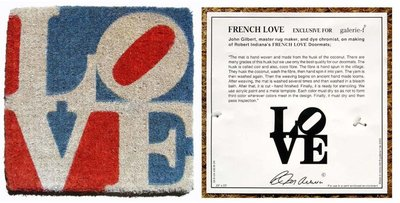 Robert Indiana - French LOVE - 51 x 51 cm - Mixed media, handgeknoopt wol