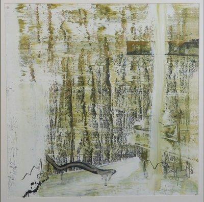 Leo Jacobs - zonder titel - 93,5 x 84 cm - Olieverf op board - in houten lijst