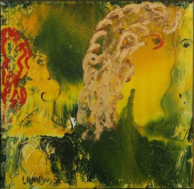 Matt Lamb - zonder titel III - 61 x 61 cm - Olieverf en gemengde techniek op doek
