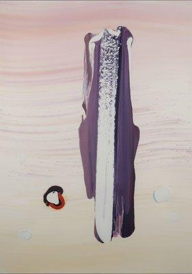 Richard Brouwer - zonder titel I - 116,5 x 87,5 cm - Olieverf op papier - in houten lijst