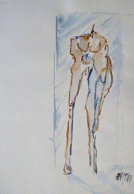 Ad Arma - Puerta - 43 x 30 cm - Aquarel op papier