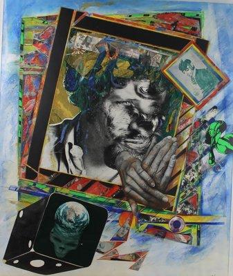 Paul Basart  - zonder titel - Mixed Media op papier - 84 x 69 cm