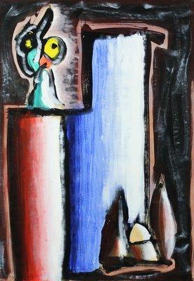 Hans Blekkink - zonder titel - 87 x 62 cm - Acryl op papier