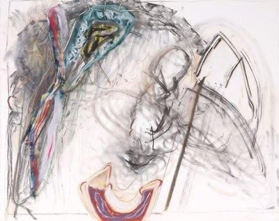 Jacqueline Blewanus - zonder titel - 76 x 99 cm - Krijttekening op papier