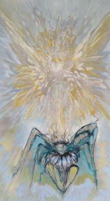 Le Marquis Fred Hansen - z.t. I - 125 x 74 cm - Olieverf op paneel - ingelijst