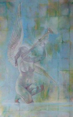 Le Marquis Fred Hansen - z.t. II - 132 x 86 cm - Olieverf op paneel - ingelijst