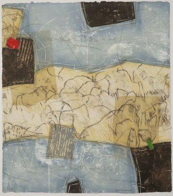 Bernard Remusat - Zonder titel I - 75,5 x 68 cm - Carborundum ets op papier - achter passe-partout