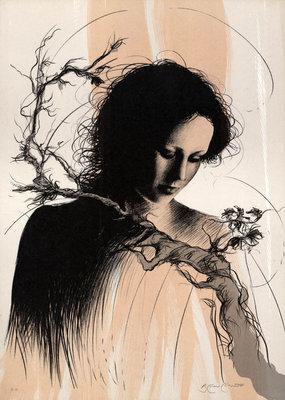 Riccardo Benvenuti - Gina - 70,5 x 50,5 cm - Litho op papier