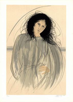 Riccardo Benvenuti - Lorena - 70,5 x 50,5 cm - Litho op papier
