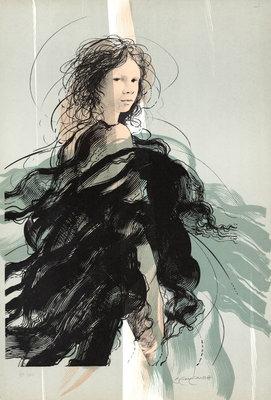 Riccardo Benvenuti - Laura - 69 x 47 cm - Litho op papier