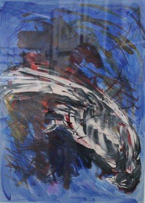 Elfry Baartmans - zonder titel - Acryl op papier - 71 x 51 cm