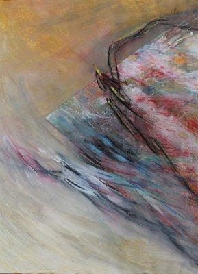 Bunk Bessels - Totaal moment - 62 x 48 cm - Gouache op papier