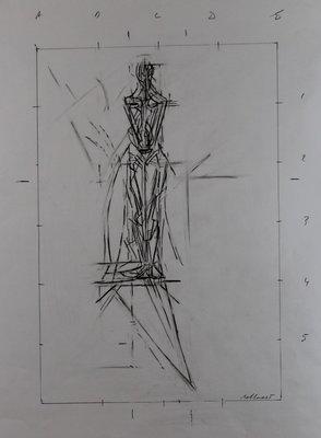 Gerard Bellaart - zonder titel - 70 x 50 cm - Potloodtekening op papier