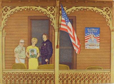 Willem Bosveld - God bless America - 28 x 38 cm - Ets, aquatint